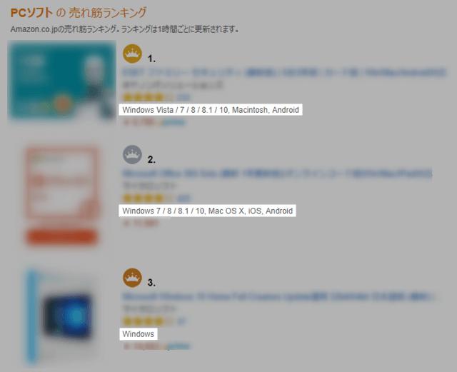 アプリと対応するOS